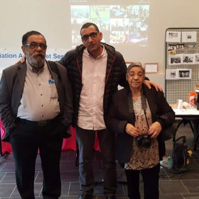 avec les responsables d'associations Berbères de Montpelier