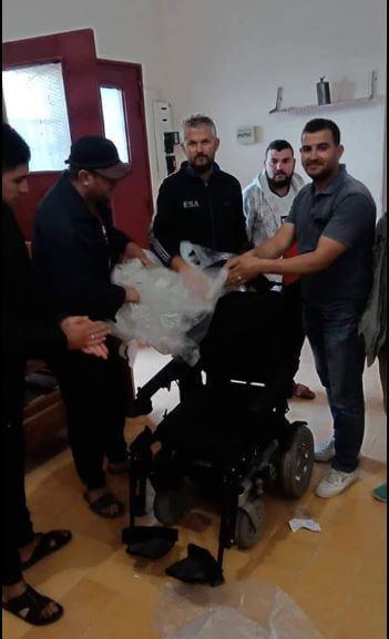 Reception du fauteuil roulant