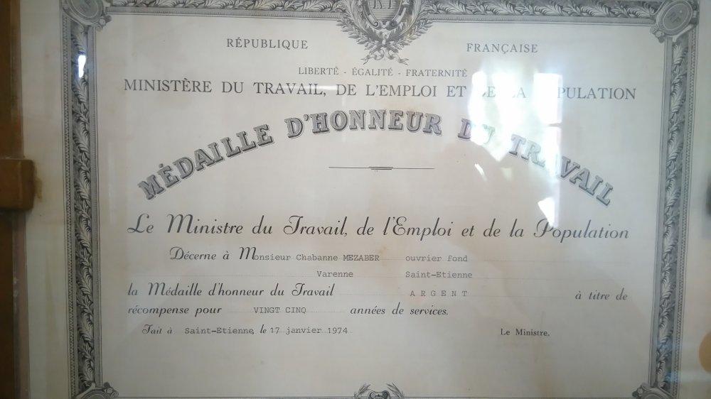 Medaille d honneur mezaber chabane