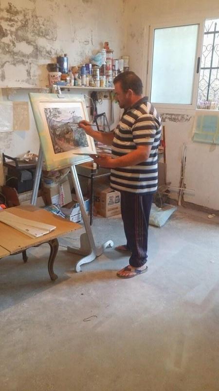 Redouane bouzidi dans son atelier